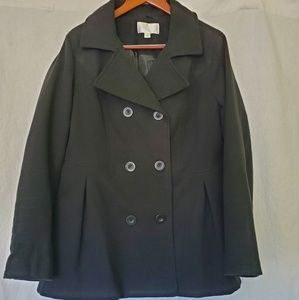 Pleated Women's Peacoat